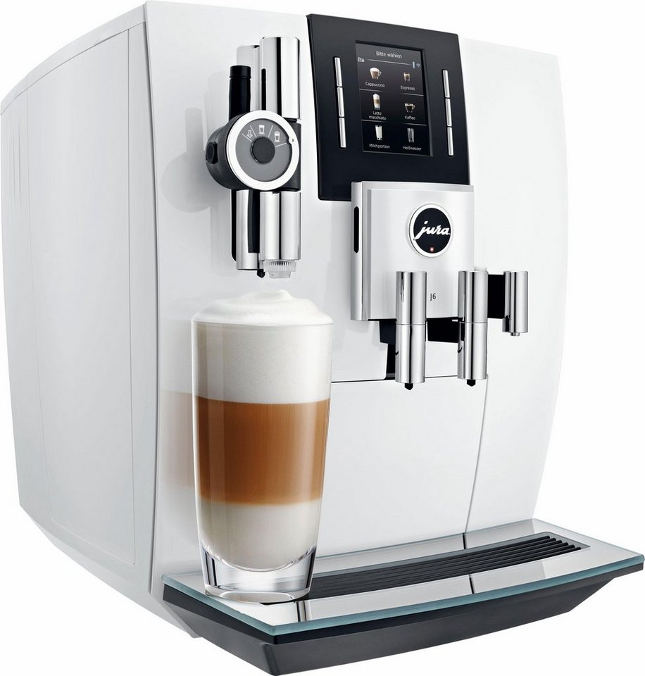 Jura Espresso-/Kaffee-Vollautomat J6 Piano White in piano white