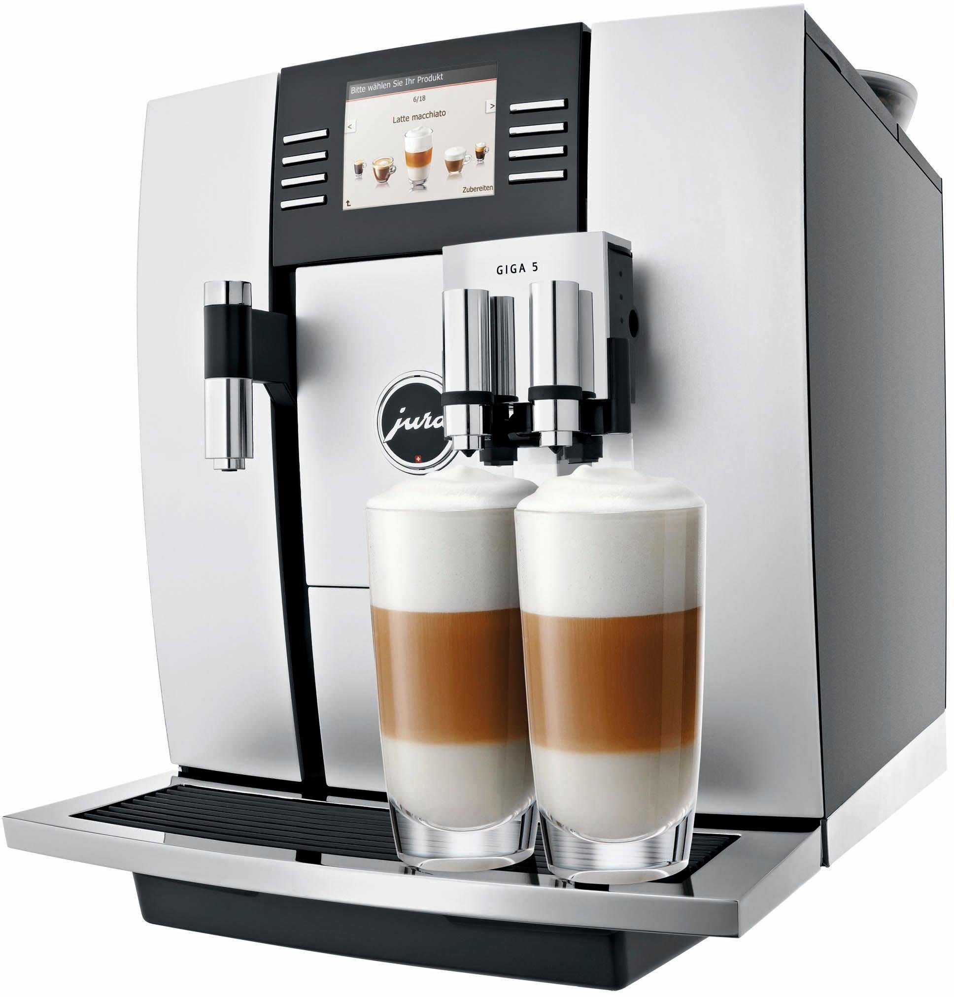 Jura Kaffeevollautomat 13583 GIGA 5, 2,6l Tank, Scheibenmahlwerk, 2 Mahlwerke
