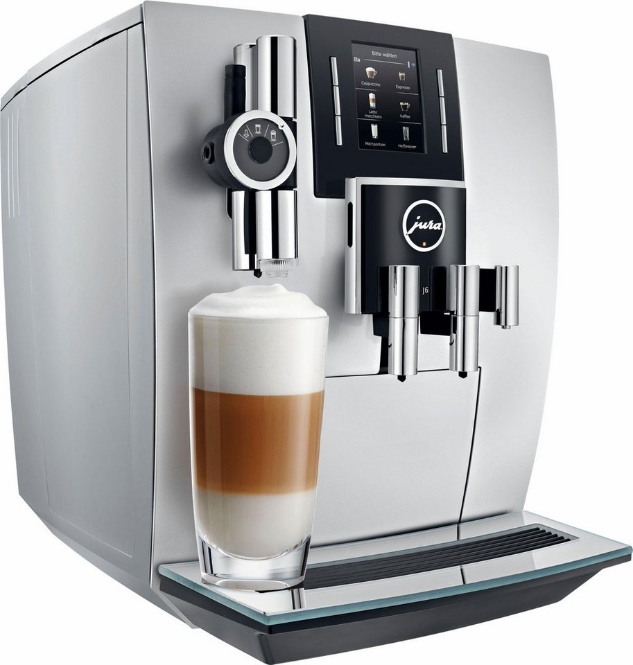 Jura Espresso-/Kaffee-Vollautomat J6, brillantsilber in brillantsilber