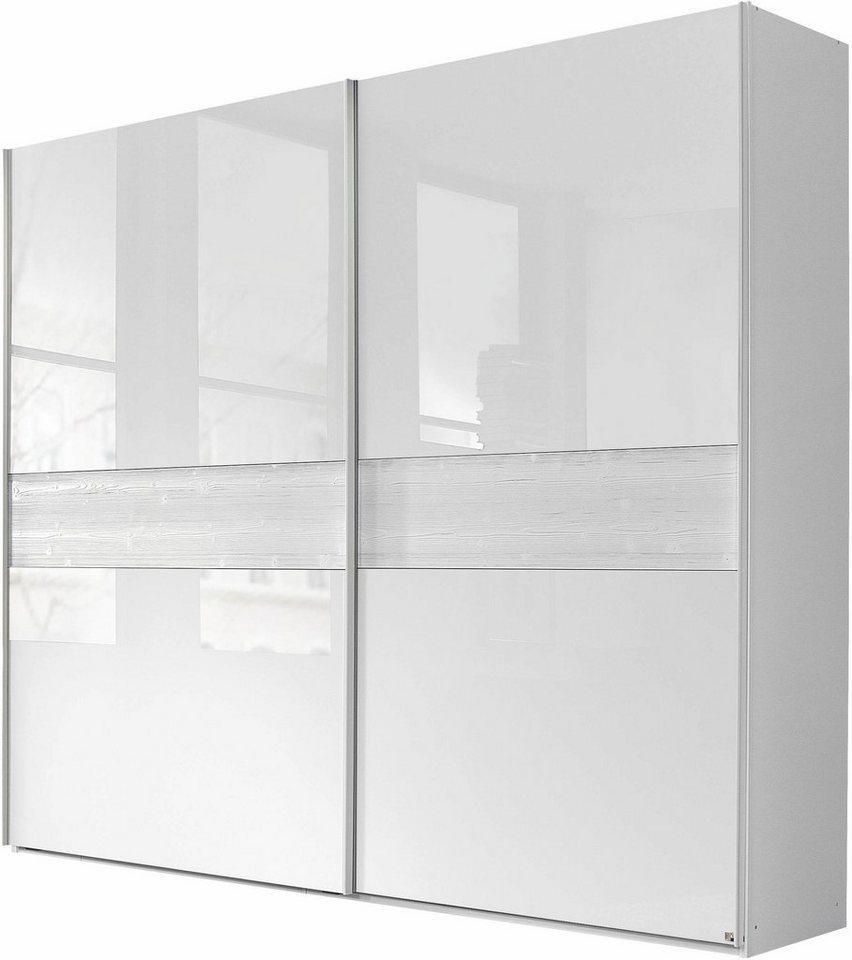 INOSIGN Schwebetürenschrank, Made in Germany in weiß/Weißglas