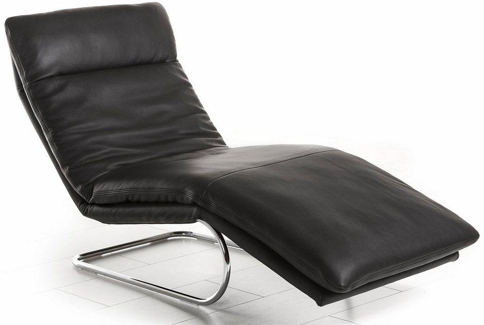 W.SCHILLIG Relaxliege »jill« mit Wippfunktion, inklusive Rücken-, Fußteil- & Kopfteilverstellung in schwarz