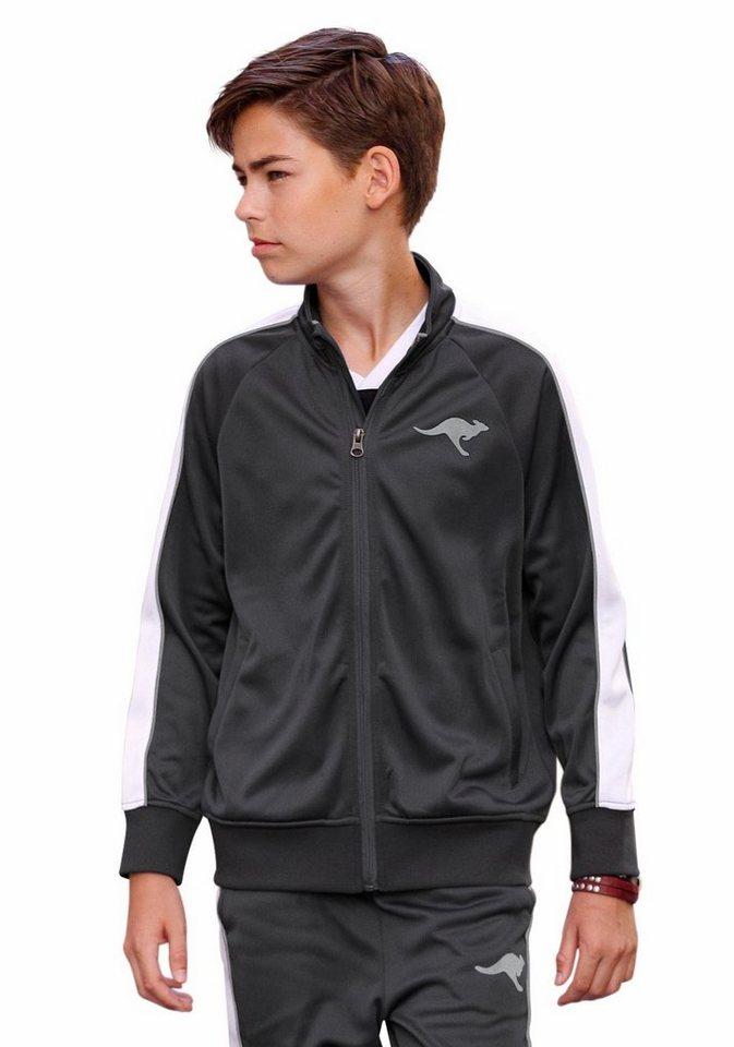 KangaROOS Trainingsjacke mit kontrastfarbenen Details in schwarz
