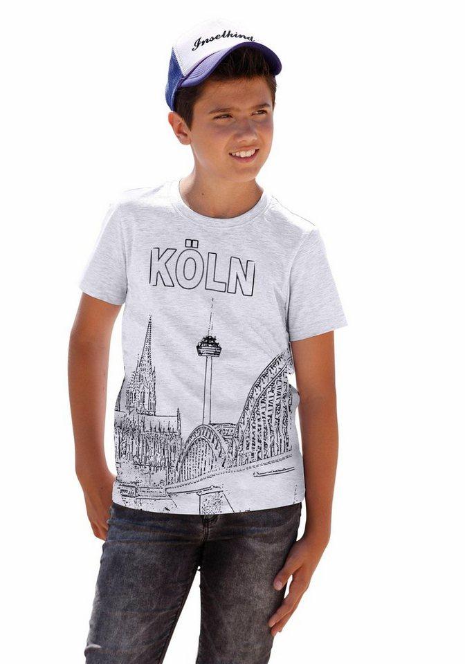 "Arizona T-Shirt ""Köln"" in grau-meliert"