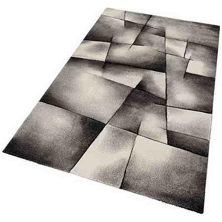 Teppich, Merinos, »BRILLIANCE«, Handgearbeiteter Konturenschnitt