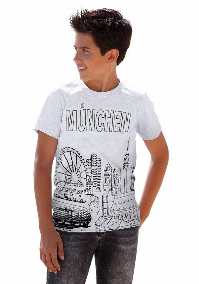 "Arizona T-Shirt ""München"" in grau-meliert"