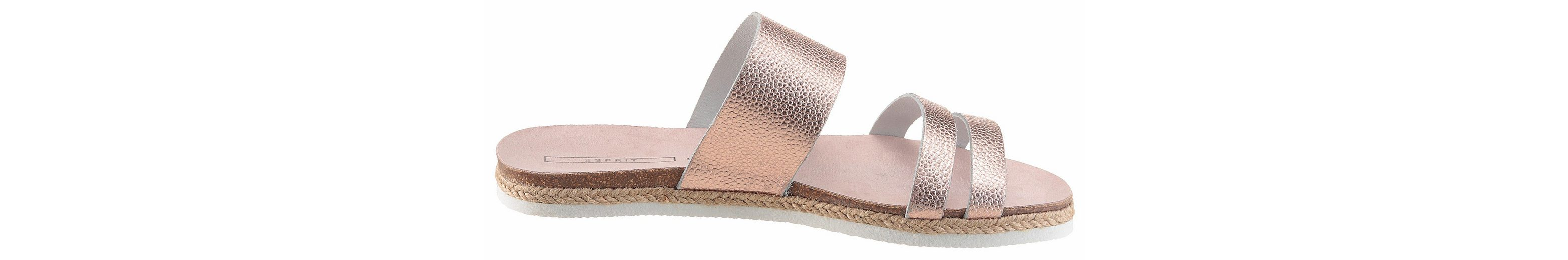 ESPRIT Keita Slide Pantolette, in modischem Metallic-Look
