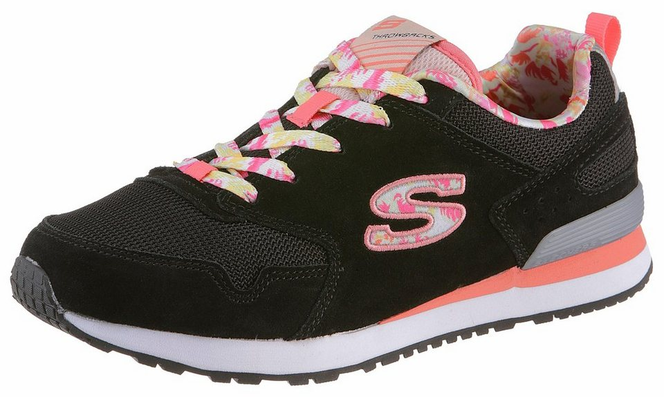 Skechers Sneaker mit Gel Infused Memory Foam in schwarz-rosa