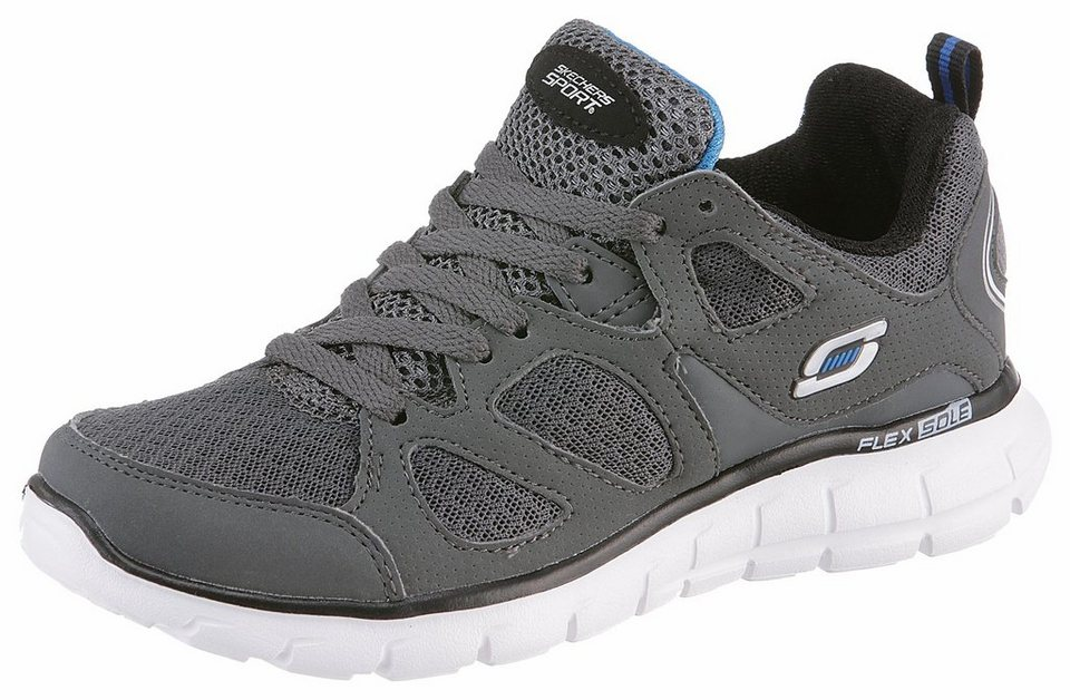 Skechers »Vim Turbo Ride« Sneaker im Materialmix in dunkelgrau
