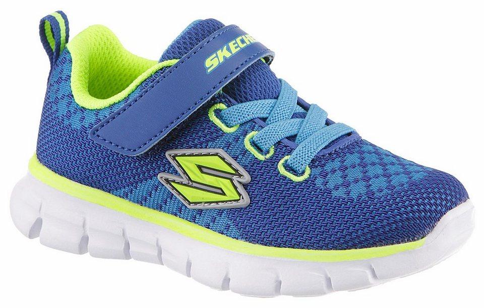 Skechers Kids Sneaker mit Skechers Memory Foam in blau-neongrün
