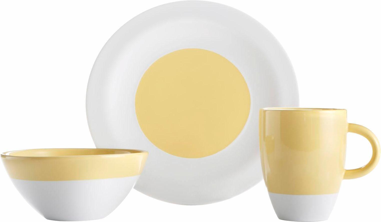 Frühstück-Set, Steingut, 12 Teile