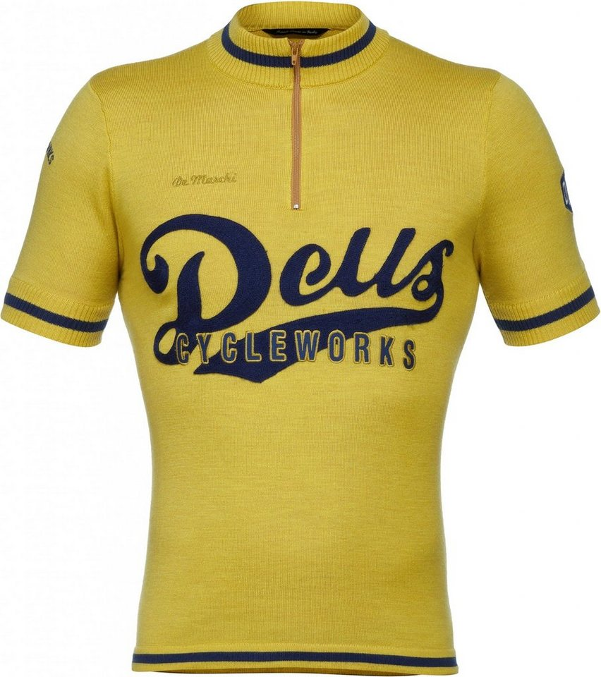 De Marchi Radtrikot »X Deus Ex Machina Team Wool Jersey Men« in gelb