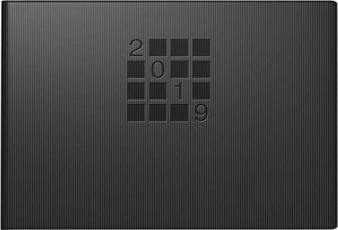 Buch mit Kunststoff-Einband »Taschenkalender 2017 Septimus schwarz«