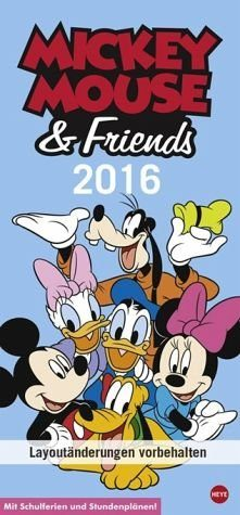 Kalender »Disney Mickey Mouse & Friends Familienplaner 2016«