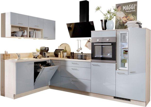 Express Küchen Winkelküche »Scafa«  mit E-Geräten  vormontiert und mit Soft-Close-Funktion  Stellbreite 305 x 185 cm   Küche und Esszimmer > Küchen   Express Küchen