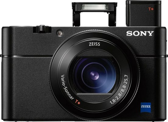 Sony »DSC-RX100M5« Kompaktkamera (ZEISS Vario-Sonnar T* 8,8-25,7 mm, 20,1 MP, 2,9x opt. Zoom, NFC, WLAN (Wi-Fi), Makroaufnahme, HDR-Aufnahme, Smile-Detection, Gesichtserkennung)