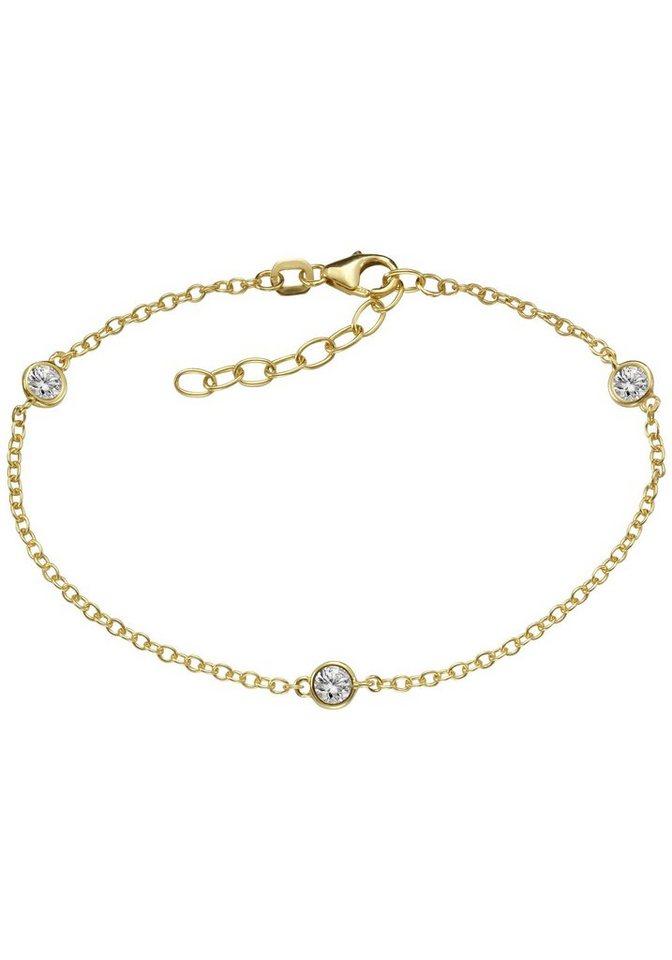 Firetti Armband mit Zirkonia in Silber 925-goldfarben