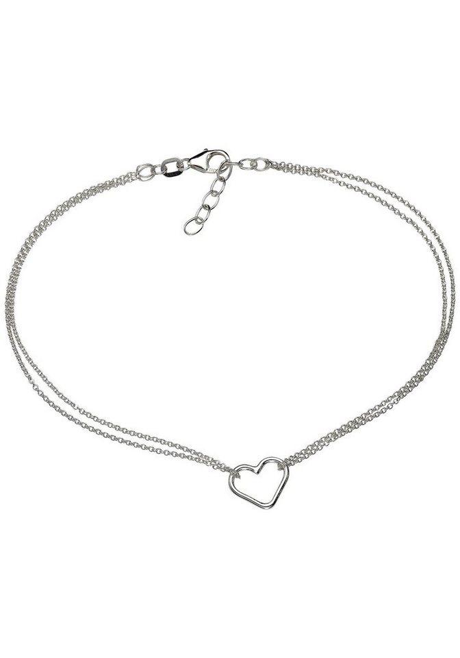 Firetti Fußkette »Herz« in Silber 925