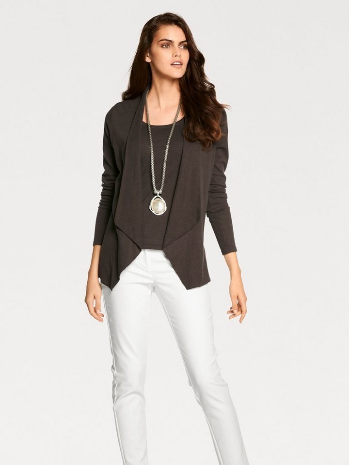 PATRIZIA DINI by Heine Strick-Twinset Feinstrick in taupe