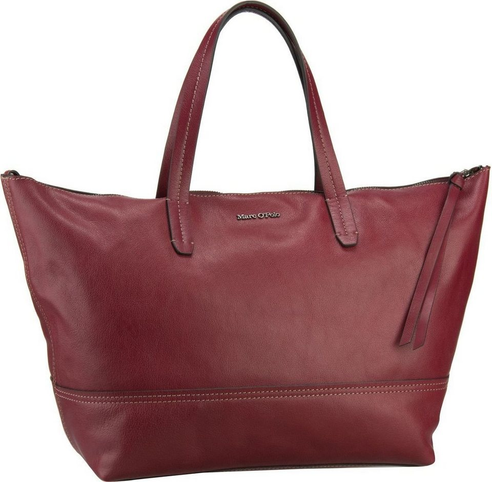 Marc O'Polo Shopper L Grainy Buff in Rosewood