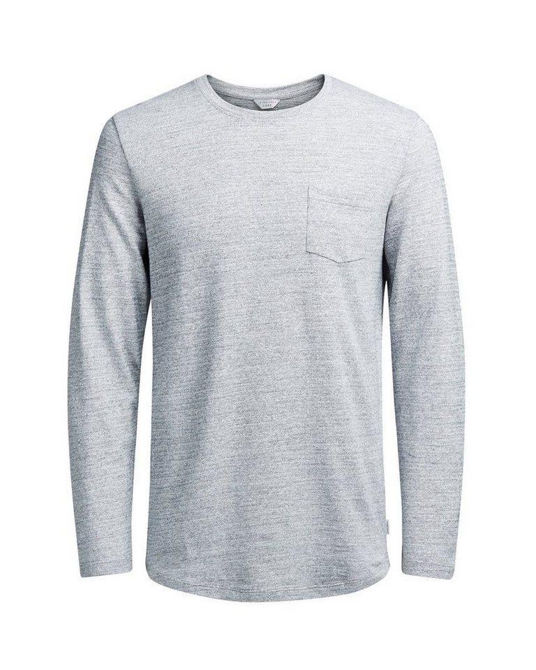Jack & Jones Vielseitiges T-Shirt mit langen Ärmeln in Light Grey Melange
