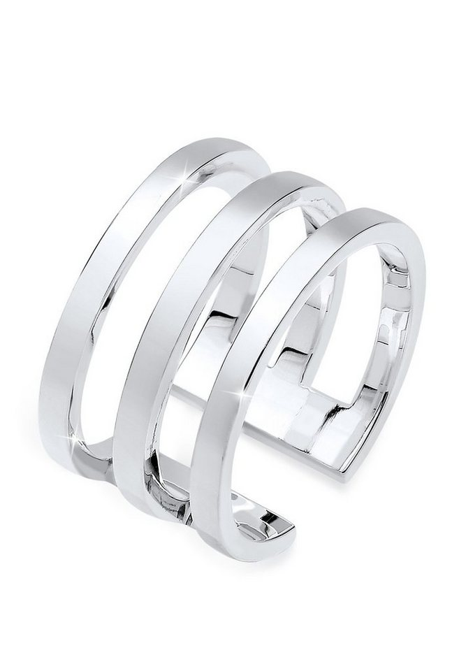 Elli Ring »Blogger Must-Have Wickelring 925er Silber« in Silber