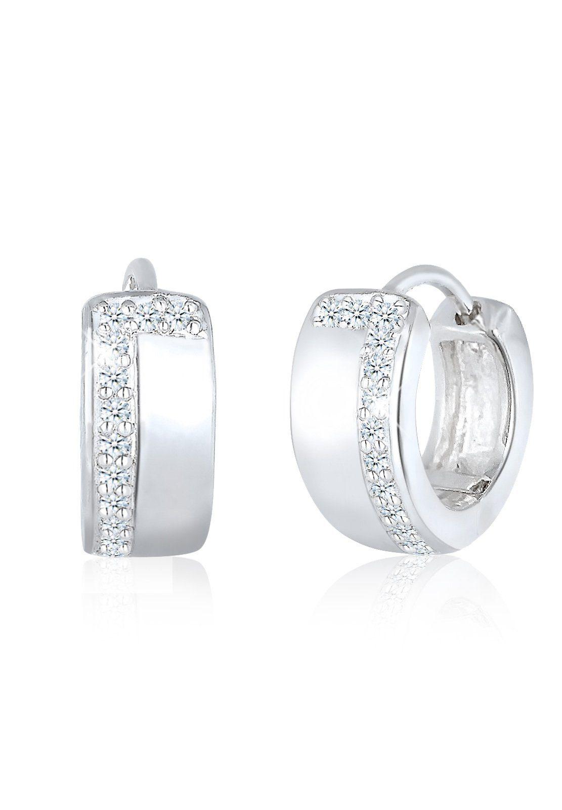 Diamore Ohrringe »Creolen Rund Diamant 925 Sterling Silber«