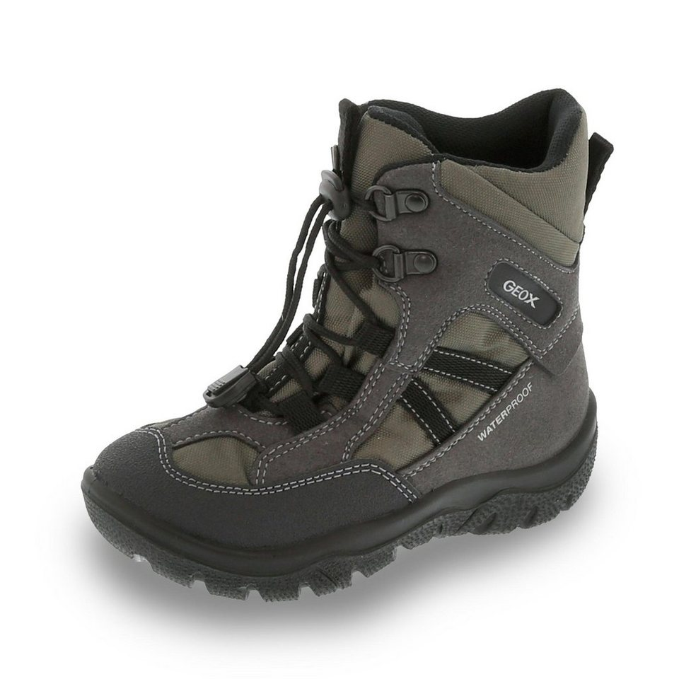 Geox Frosty Boy wasserdichter Winterstiefel in grau