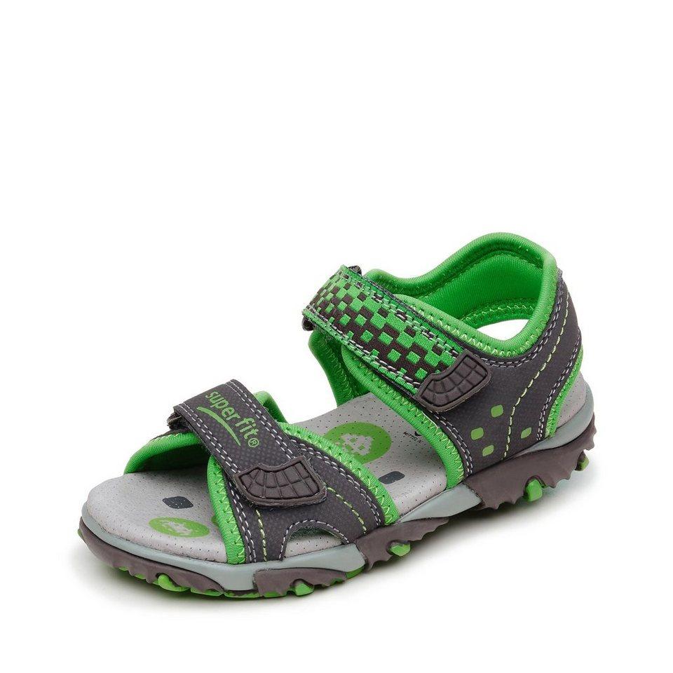 Superfit Sandale in anthrazit/grün