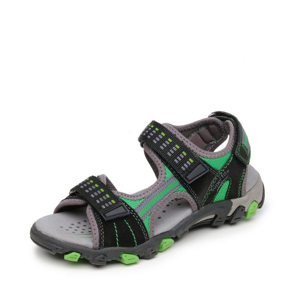 Superfit Sandale in schwarz/neongrün