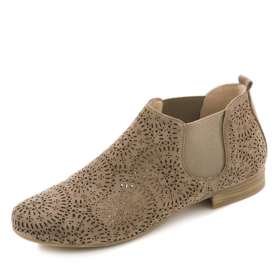 Caprice Stiefelette in taupe