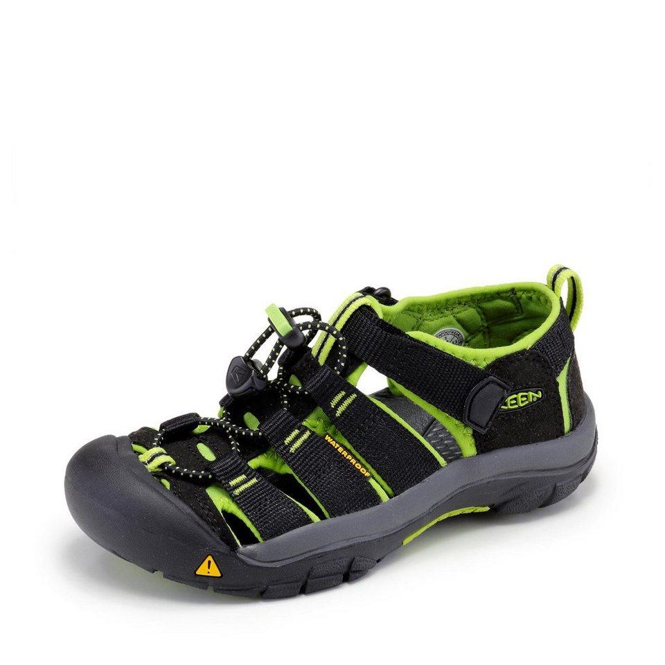 Keen Sandale in schwarz/neongrün