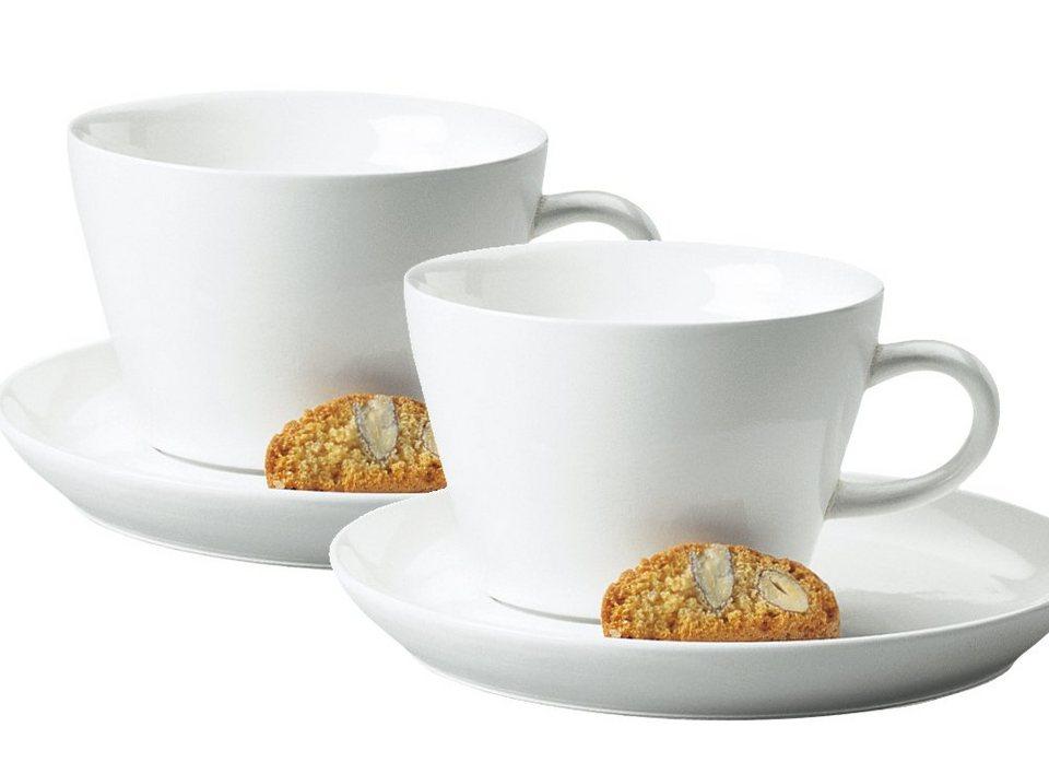 Kahla Cappuccino-Gedeck 4-tlg. »Five Senses« in Weiß