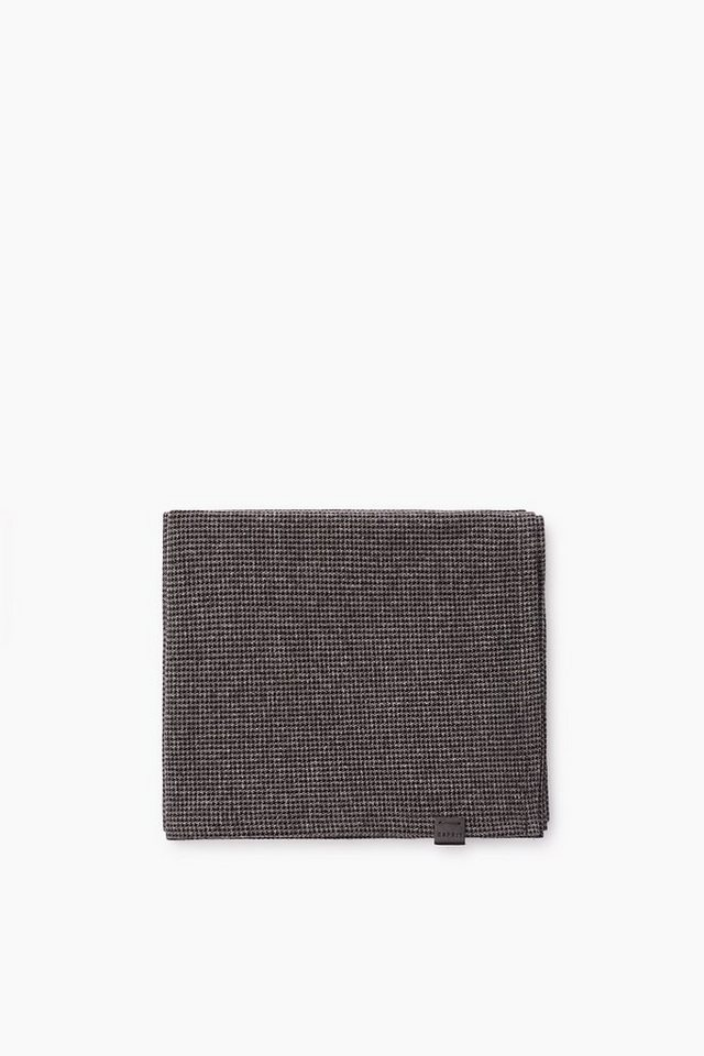 ESPRIT CASUAL Hahnentritt-Schal aus Baumwoll-Mix Jersey in DARK GREY