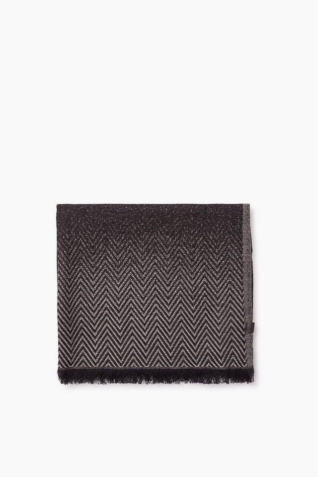 ESPRIT CASUAL Baumwoll/Woll Webschal mit Farbverlauf in BLACK