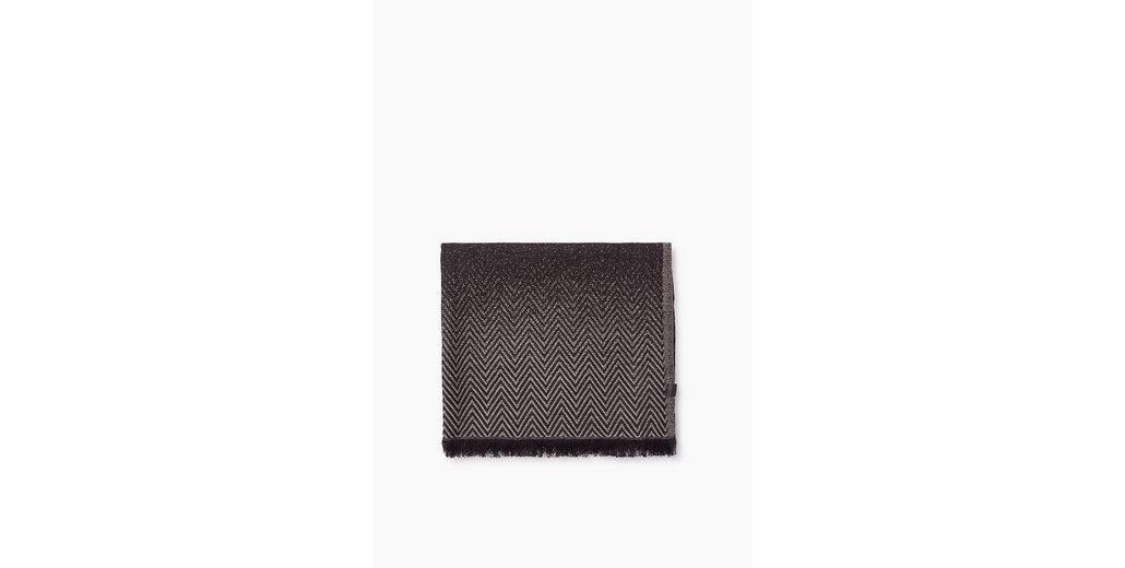 ESPRIT CASUAL Baumwoll/Woll Webschal mit Farbverlauf