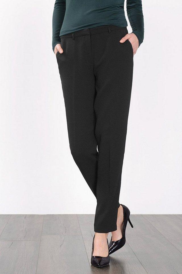 ESPRIT COLLECTION Anzughose aus fließendem Crepe in BLACK