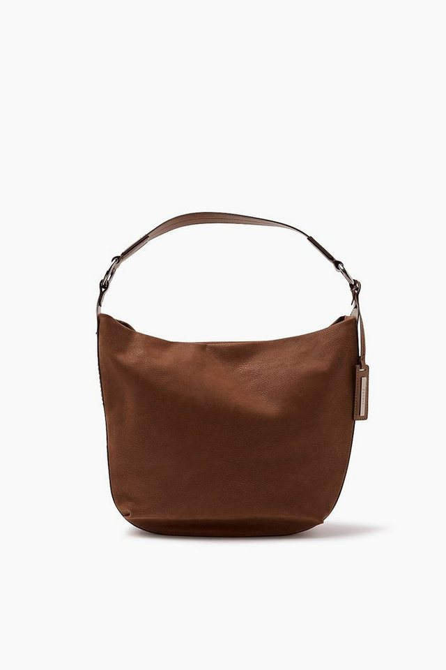 ESPRIT CASUAL Softe Hobo Bag im Leder-Look in TOFFEE