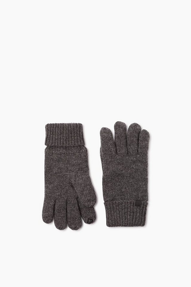 ESPRIT CASUAL Touchscreen Handschuhe, Wolle / Fleece in DARK GREY