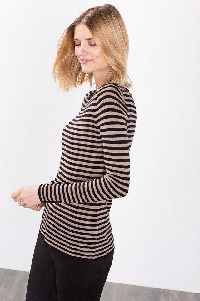 ESPRIT COLLECTION Zarter Feinstrick-Sweater mit Glanz in NEW BLACK