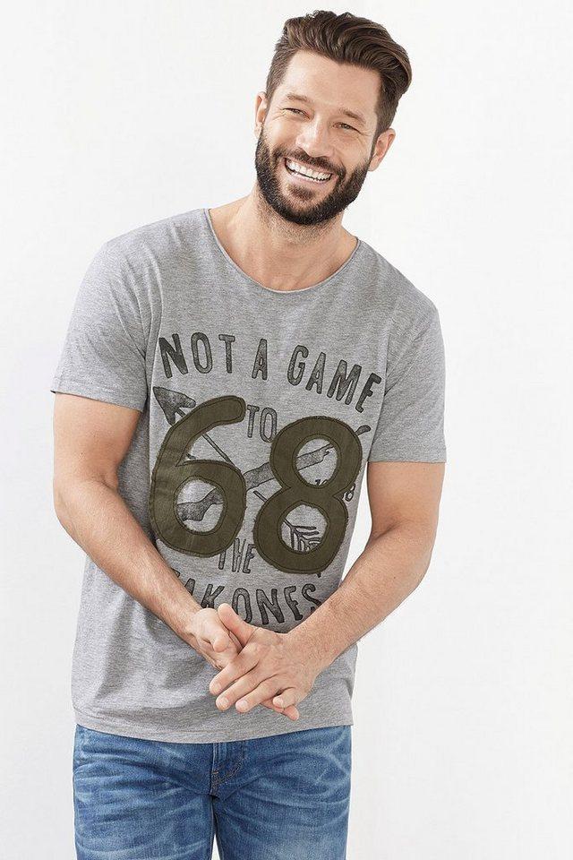 ESPRIT CASUAL Baumwoll Jersey Artwork T-Shirt in MEDIUM GREY