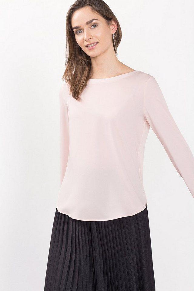 ESPRIT COLLECTION Fließendes Shirt mit Rippdetail in NUDE