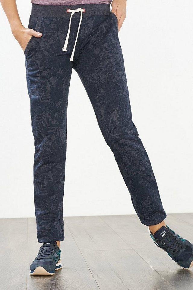 ESPRIT Sport Sweat-Pants mit Print, Baumwoll-Mix in NAVY