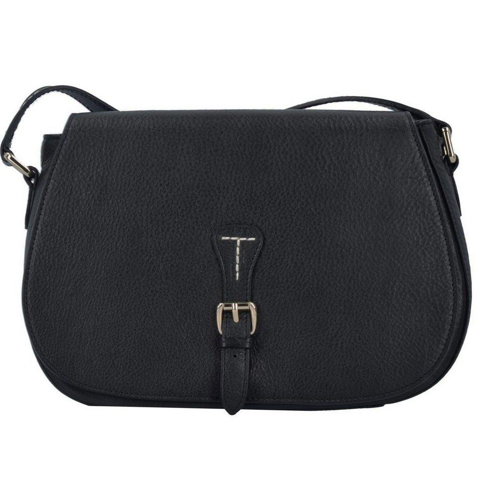Cinque Diana Umhängetasche Leder 23 cm in schwarz