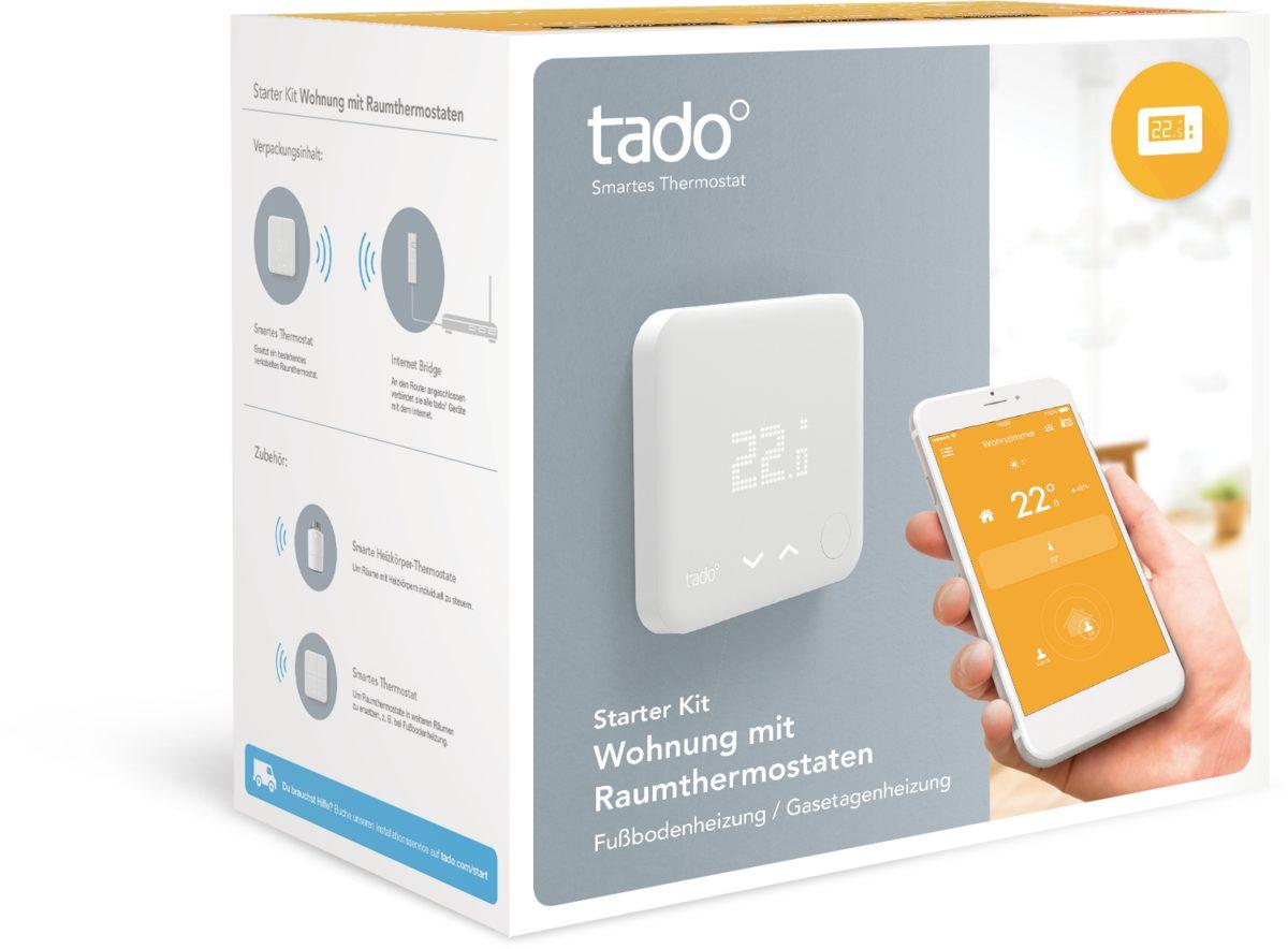Tado Smart Home Zubehör »Smartes Thermostat - Starter Kit - Wohnung«