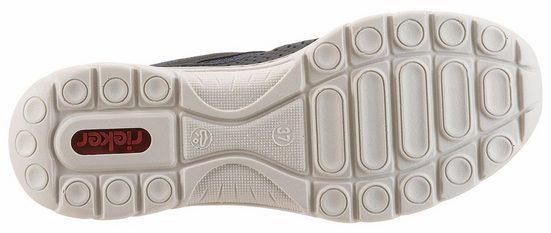 Rieker Slipper, mit Perforation und Mesheinsatz