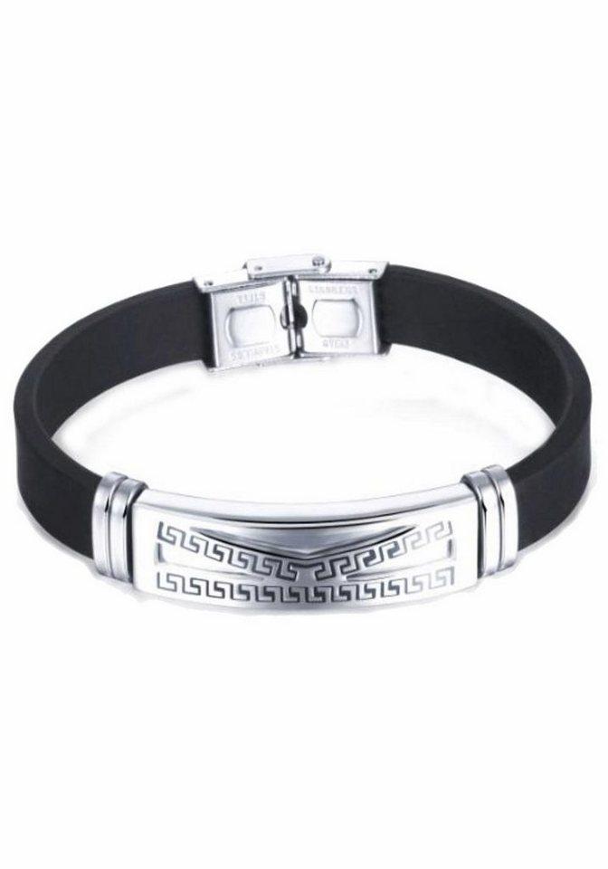 Firetti Armband in silberfarben-schwarz