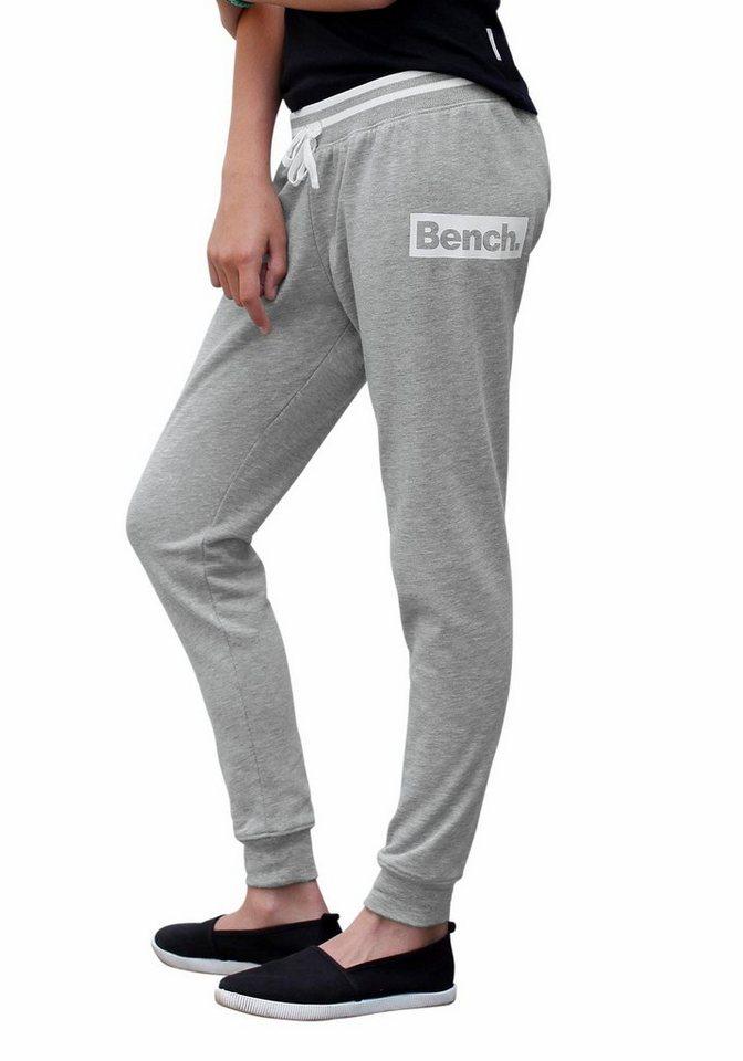 Bench Sweathose mit Logo-Druck in grau-meliert