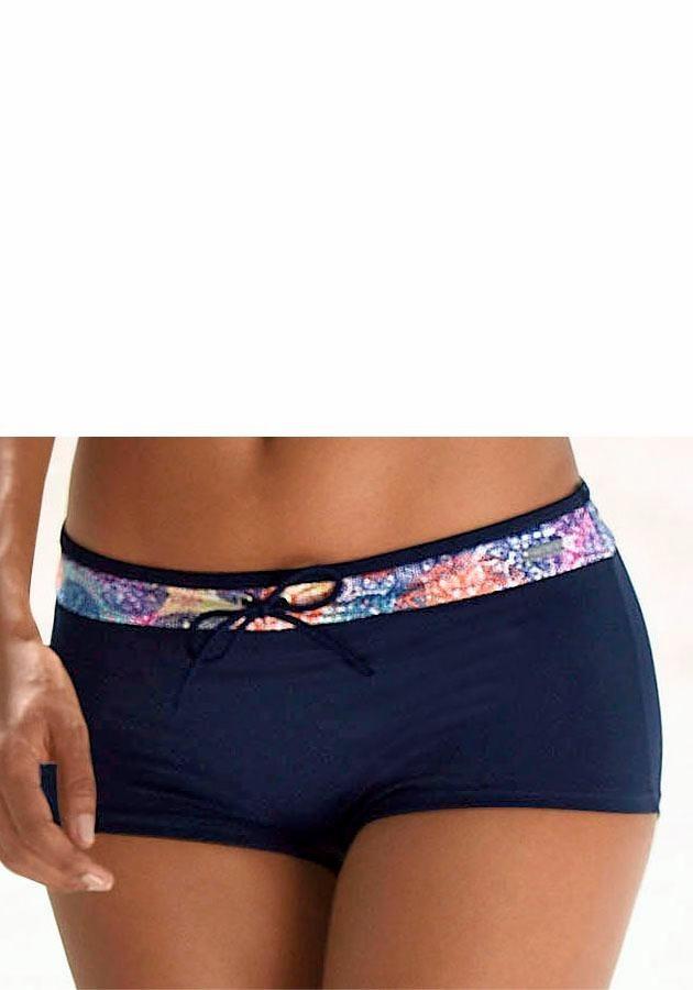 LASCANA Hotpants mit Paisleydruck | Bekleidung > Hosen > Hotpants | Blau | LASCANA