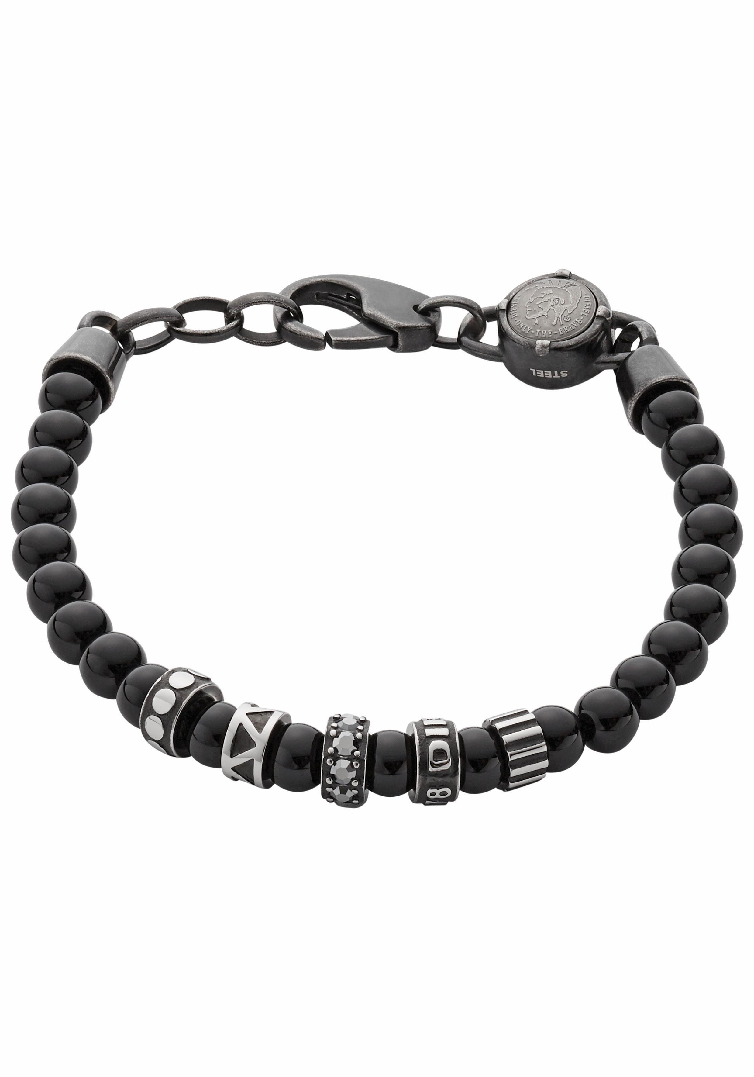 Diesel Armband »Etnik, DX0961001«, mit Achaten