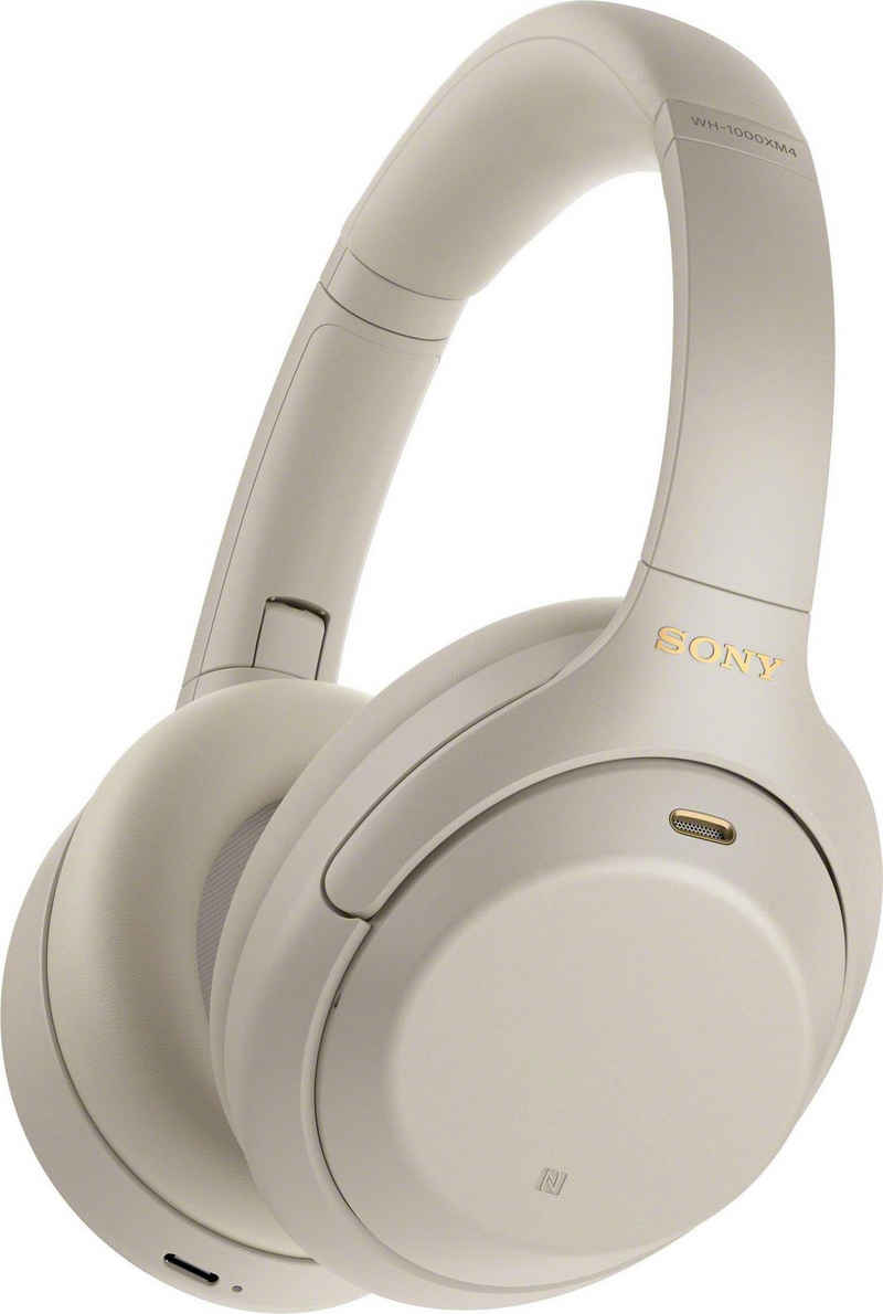 Sony »WH-1000XM4 kabelloser« Over-Ear-Kopfhörer (Noise-Cancelling, One-Touch Verbindung via NFC, Bluetooth, NFC, Touch Sensor, Schnellladefunktion)